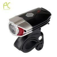 2016 NEW 3W USB Headlight 300 LM Super Bright Night Helmet Lighting Safety Cycling Bike Bicycle