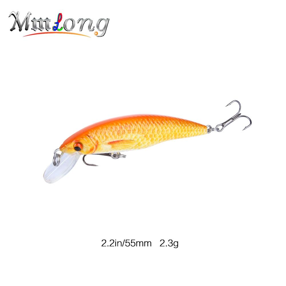 Mmlong 2.2 Mini Minnow Fish Wobbler Swimbait MH12A 2.3g Bionic Hard Fishing Crank Bait 5 Color Fishing Lure Crankbait Tackle