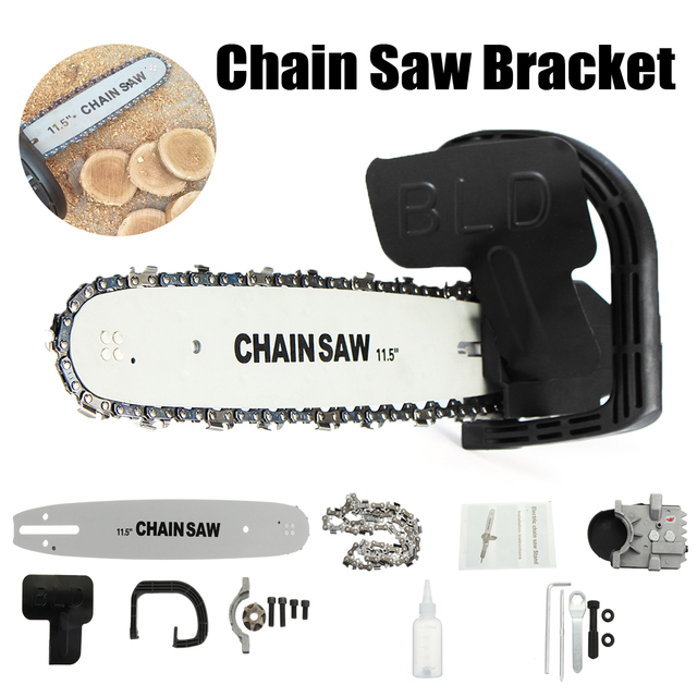 DIY Electric Saw Chainsaw Bracket Set High Carbon Steel M10 Transfer Conversion Head For 4 Inch Angle Grinder Power Tool Parts 1