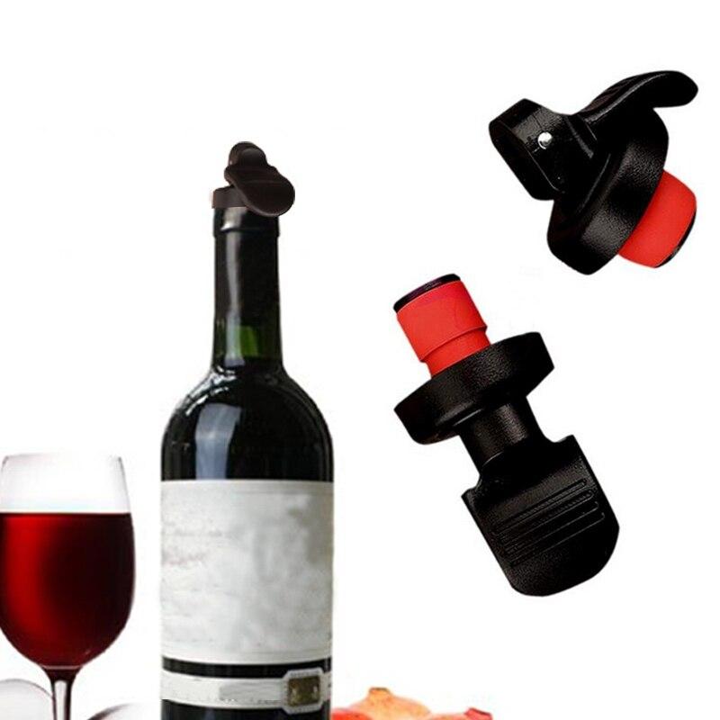 Reusable Stainless Steel Vacuum Wine Bottle Stopper Plug Bottle Cap Pump Sealer