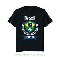 Бразилия Soccerite рубашка команда Brasil 2018 футболка футболист 2018 Новинка 100% хлопок футболки мужские