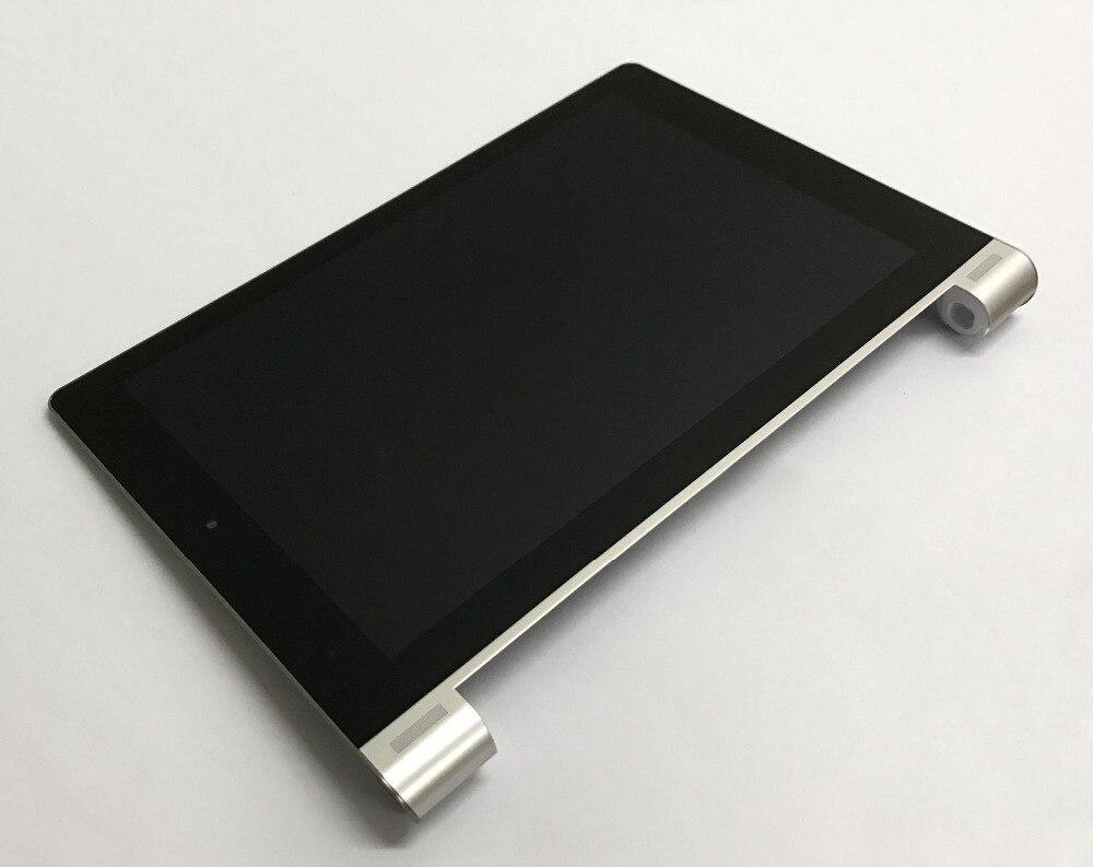 Écran tactile Digitizer Capteur En Verre + LCD Affichage Moniteur Assemblée + Cadre En Argent Pour Lenovo B8000 B8000F Yoga Tablet 10 60047