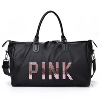 2017 Women S Travel Bag Black Blue Women S Handbag Shoulder Bag Bag Portable Women S