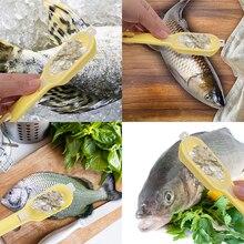 Balık Cilt Fırça Kazıma balıkçı terazisi Fırça Rendeler Hızlı Kaldır Balık bıçak Temizleme Çarpma Ölçekleyici Kazıyıcı (Renk: Ra...