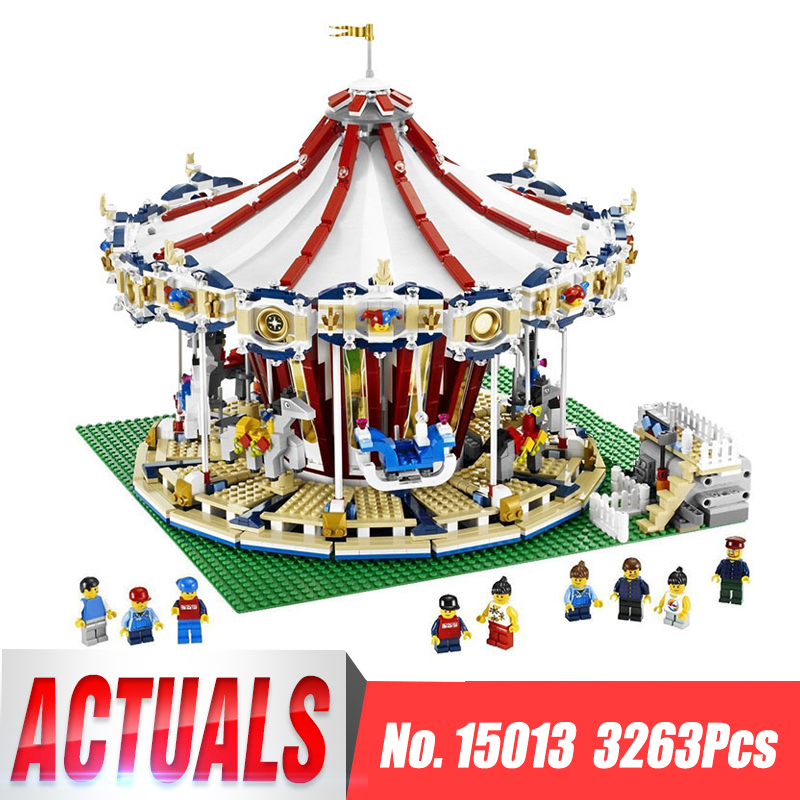 Lepin 15013 City Sreet Set Carousel Model Building Kits Blocks Compatible legoing 10196 Funny Children Educational lovely Toys lepin 15013 city street carousel model building kits assembling blocks toy legoing 10196 educational merry go round gifts
