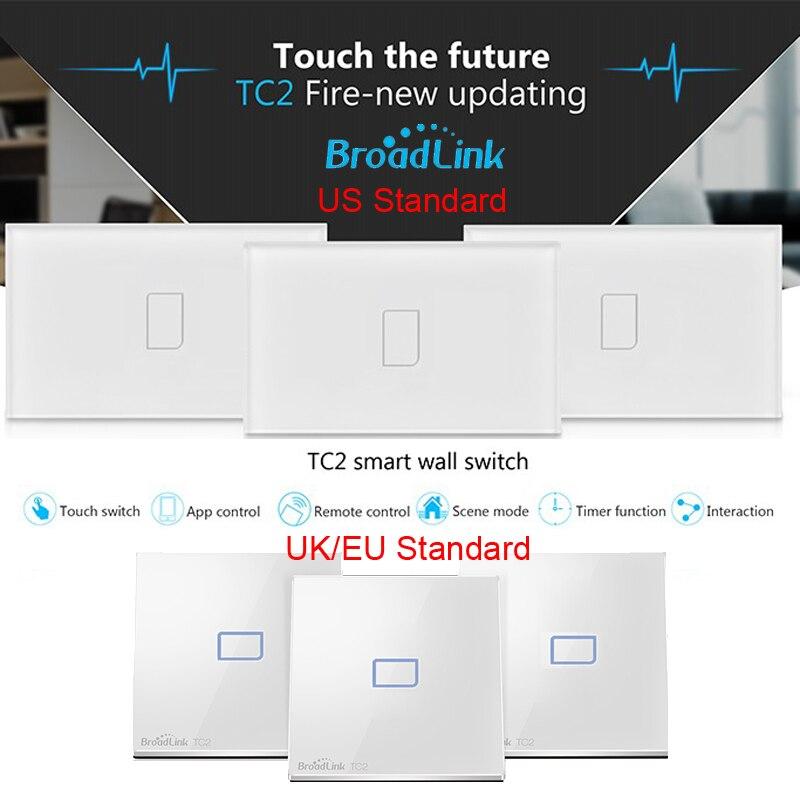 imágenes para Broadlink wifi interruptor de control remoto Táctil interruptor de La Luz interruptor de control de control Inalámbrico para smart home automation TC2 1 gang