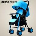 A APA ultra portátil dobrável carrinho de bebê verão crianças guarda-chuva carro BB quatro redonda pode sentar mentindo de embarque