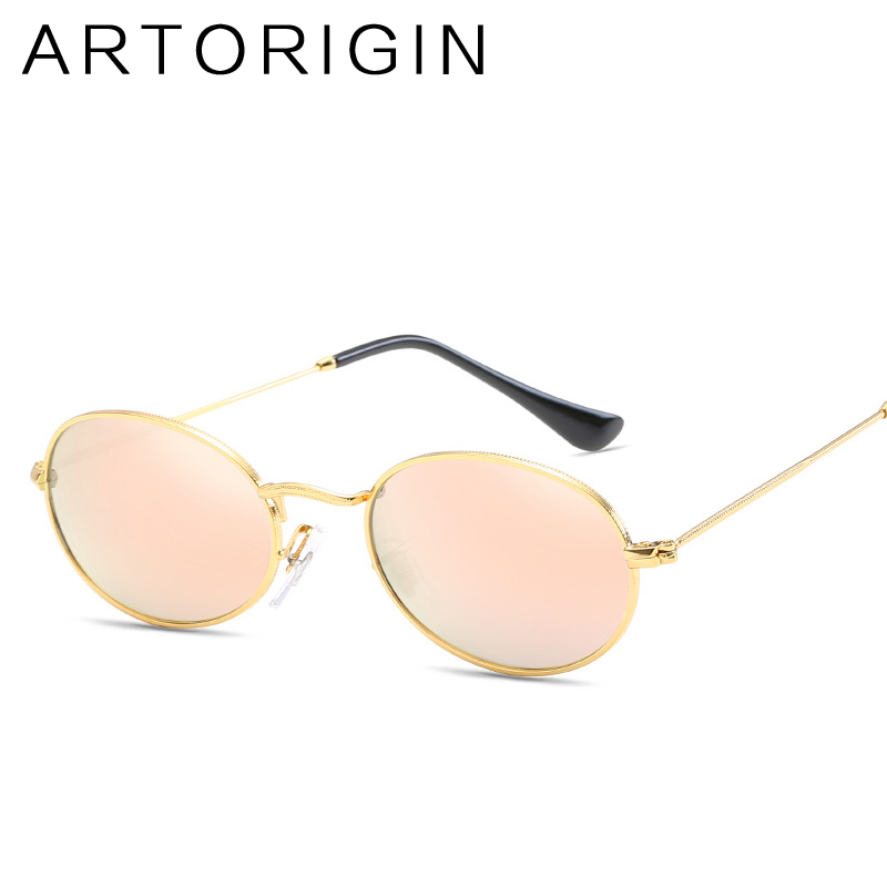 5150854766a 2018 Fashion Vintage Small Oval Sunglasses Women Metal Mirror Female Sun  Glasses Red Gold Retro Ladies Oculos Eyewear -in Sunglasses from Apparel ...