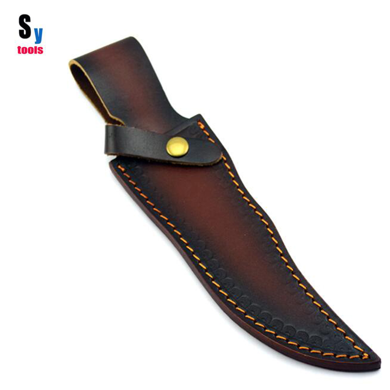 Sy tools DIY material font b Knife b font cow leather scabbard sheath case suit for