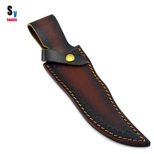 Sy tools DIY material Knife cow leather scabbard sheath case ,suit for 5.5mm thickness 15-18cm length