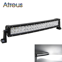 23 Inch 120w Curved LED Work Light Bar 12V Spot Flood High Power 8000Lm For Boat