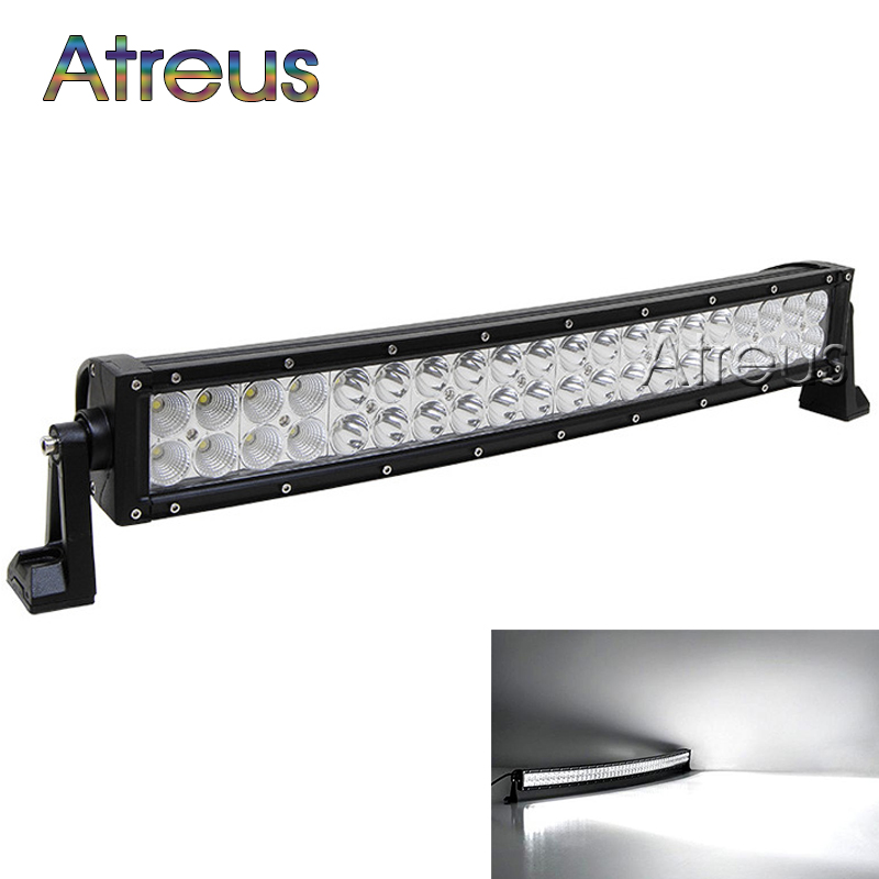 23 inch 120w Curved LED Work Light Bar 12V Spot Flood High Power 8800Lm For Boat Offroad 4x4 Truck SUV ATV JEEP Driving Fog Lamp new 22 120w led work light bar 12v spot flood combo high power 8800lm for boat offroad 4x4 truck suv atv jeep driving fog lamp