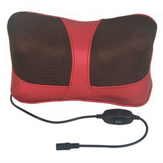 Infrared Heating Double Beauty Body Device Neck Massage Pillow Car Massager Cushion Seat Covers US plug 110-240V