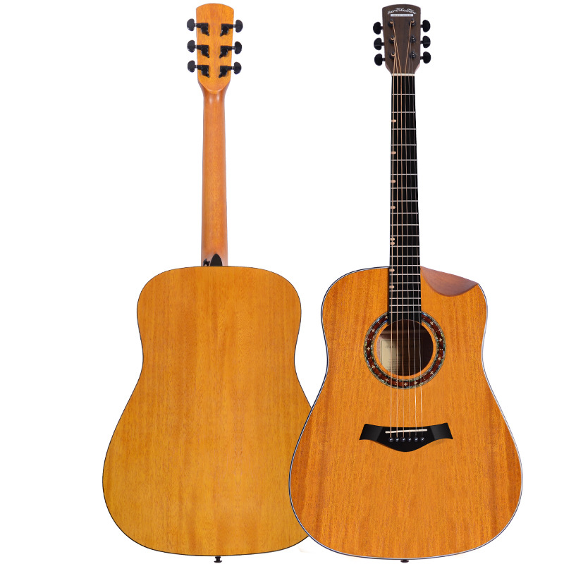 Sapele Top Sapele Back and Side Rosewood Fingerboard Acoustic Guitar 41 Acoustic Guitarra Manual Semi-short Angle Free Shipping spruce top sapele back and side rosewood fingerboard acoustic guitar 34 acoustic guitarra free shipping