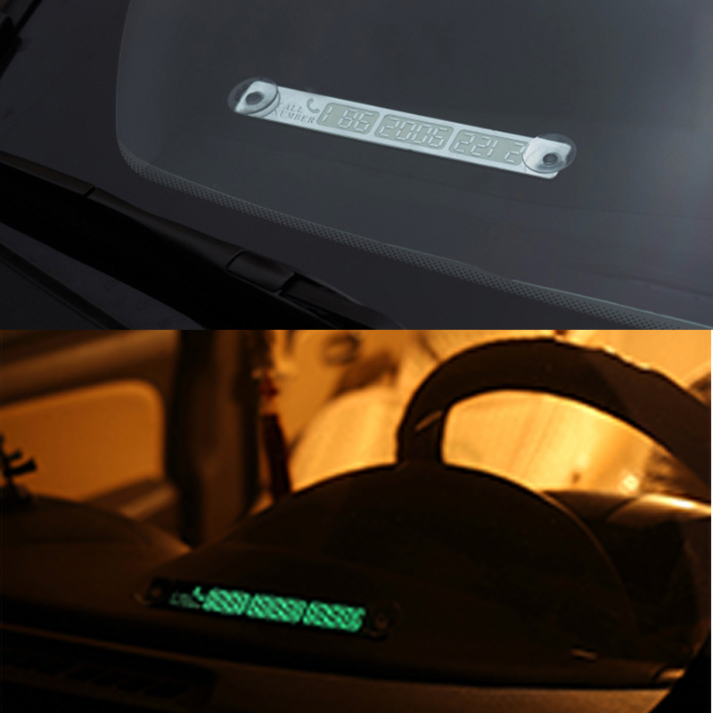 Car-Styling Luminous Phone Number Parking Card Sticker for Subaru Forester kia Rio Ceed Soul Cerato Sorento Sportage Accessories kia ceed автомобили с пробегом