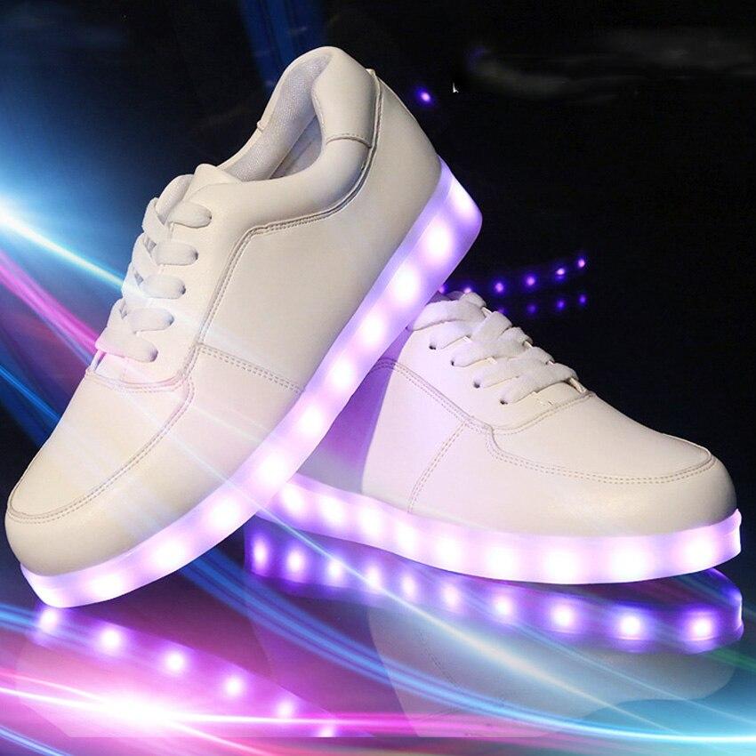 2017 de La Moda cesta de zapatos para adultos de Los Hombres Luminosos de luz Le