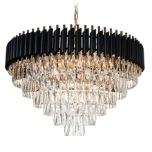 Good Quality K9 Crystal Chandelier Lighting Suspension Luminaires Hanging Lustre for Restaurant American Style Lamp