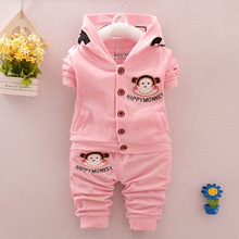 2016 Baby Girls Boys Clothing Sets 2 Pcs/set Infant Clothes Suit Casual Minions Bebes Fashion Costume Tops & Pants