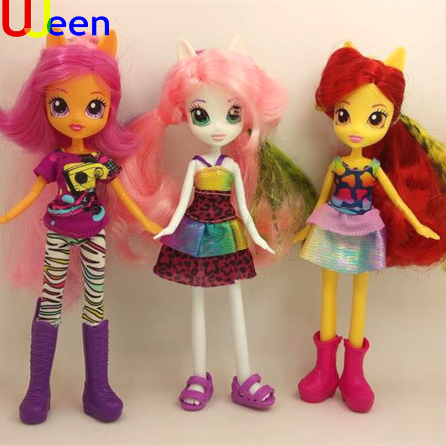 uj doll toy doll Girl plastic toy doll ornaments full set soft horse Figure Doll Christmas