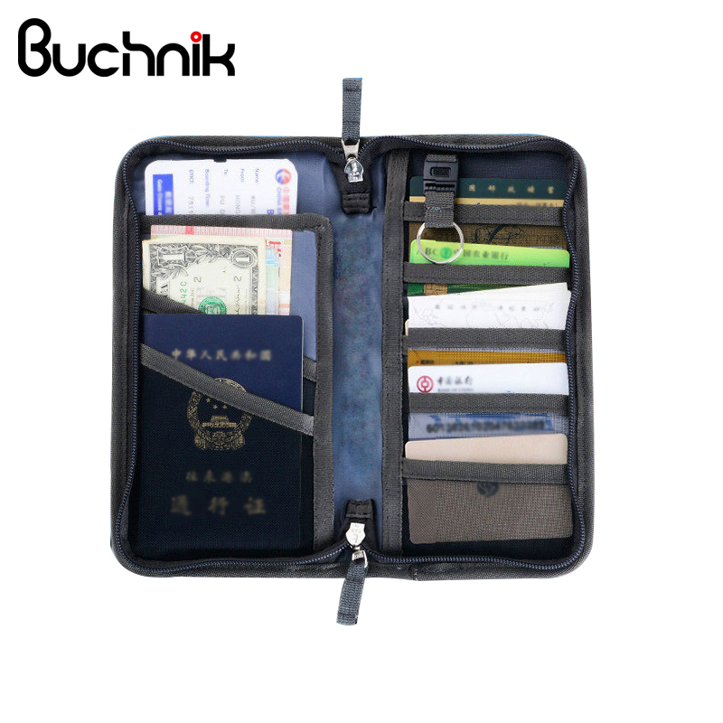 BUCHNIK Men's Travel Passport Wallet Multi-purpose Document Credit Card Package ID Holder Storage Organizer Pouch Accessories luluhut passport storage bag travel functional bag portable passport holder document organizer credit card id card cash holder