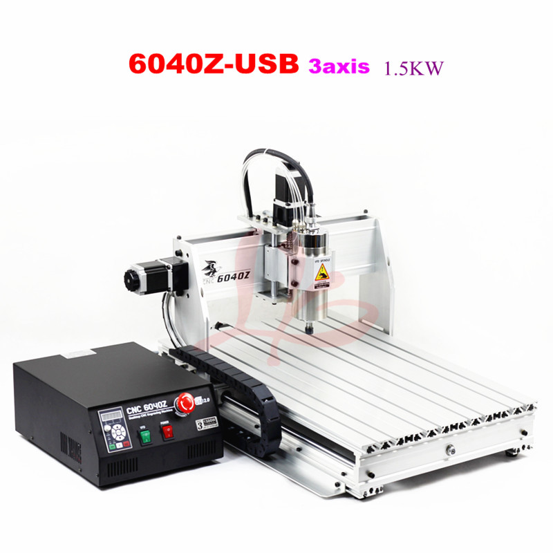 CNC Router 6040Z-USB 3axis drilling and milling machine for wood granite plastic 4 axis cnc machine cnc 3040f drilling and milling engraver machine wood router with square line rail and wireless handwheel