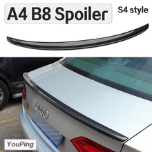 A4B8 Sedan Carbon Fiber Trunk Spoiler in S4 LOOK / Back Wing Fit For A4B8 Sedan 2009-2013y and A4 B8.5 facelifted 2014-2016(China)