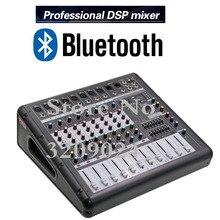 Pro 8 канальный микшер с усилителем сцена караоке высокого Мощность Bluetooth реверберации микрофонный балансный смеситель Системы