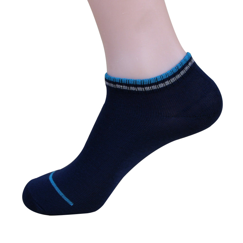 5 Pairs Men Socks Cotton Fashion Casual Stripe Mouth Style Ankle Sock Summer Comfortable Breathable Deodorant Male Sock Adult