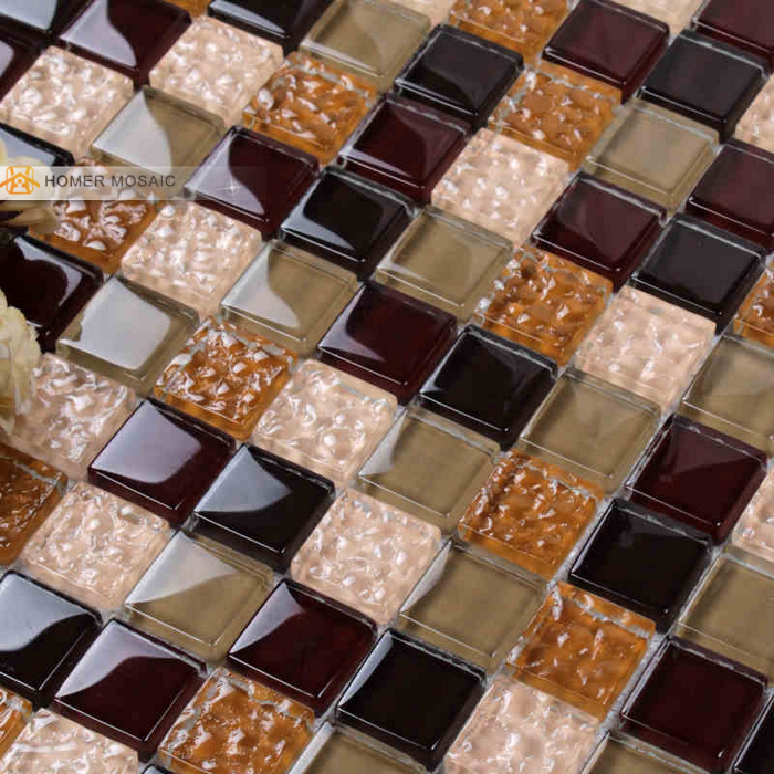 Bathroom Floor Tiles Weight : Crystal glass mosaic tiles hmb for kitchen