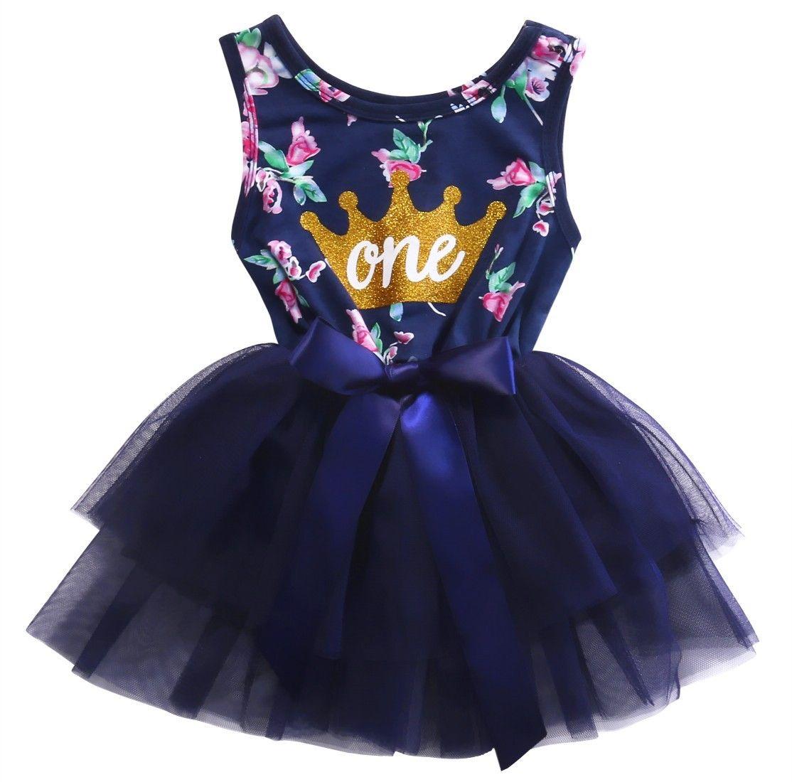 0 2T Kid Girls Princess Baby Dress Newborn Infant Baby