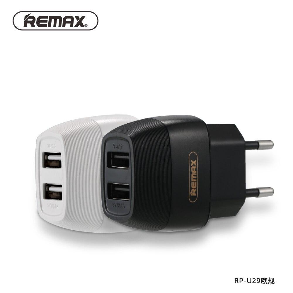 REMAX EU/UK 5 V/2.1A Dual USB Ladegerät Reise-ladegerät Adapter Schnellladung für iphone7/xiaomi/Bluetooth/USB Mobilen Gerät