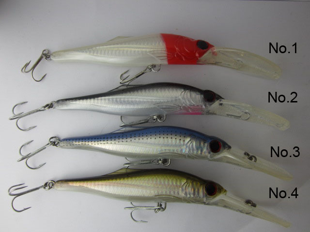 BassLegend - Fishing Deep Crankbait Floating Minnow For Pike Jerkbait Slepend Lokmiddel 40g / 140mm Diepte 3.5-8m