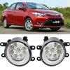 Car Styling For Toyota Yaris Sedan 2014 2015 2016 9 Pieces Leds Chips LED Fog Head