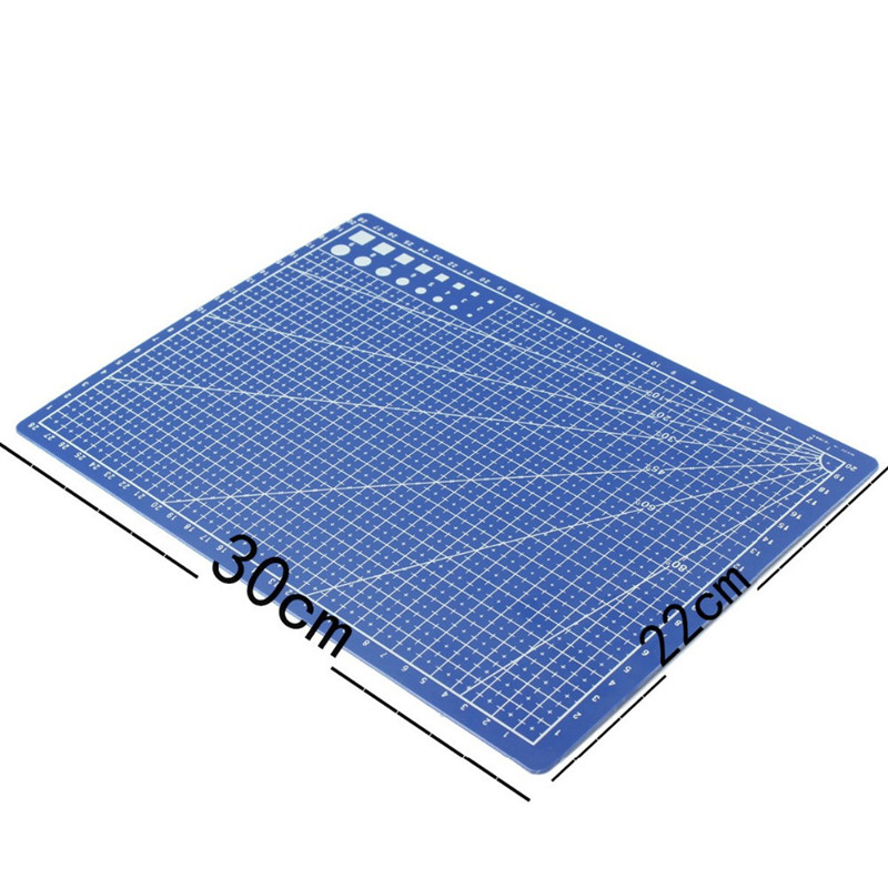 A4 / 30 * 22cm Sewing Cutting Mats Double-sided Plate Design Engraving Cutting Board Mat Handmade Hand Tools 1pc