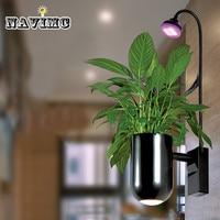 Светодиодные растения растут свет спальня гостиная настенный светильник настенные бра сделать кислородный завод роста лампы Комнатные цв