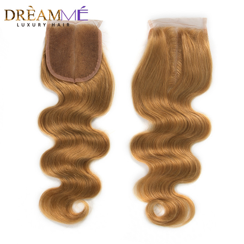 27# Pure Colored Honey Blonde Bundles With Closure Brazilian Straight Hair Bundles 100% Human Hair Preplucked Lace Closure Remy Moderate Price Human Hair Weaves Hair Extensions & Wigs
