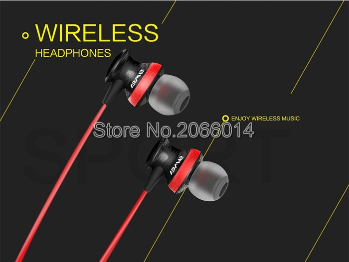 A980BL Smart Wireless Sport Earphone Bluetooth 4.0 Sports Stereo In-ear Voice control Noise Reduction with Mic