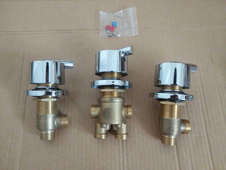 3 adet = 1 takım banyo duş musluk vanası, küvet duş bataryası setleri, duş odası sıcak ve soğuk musluk musluk