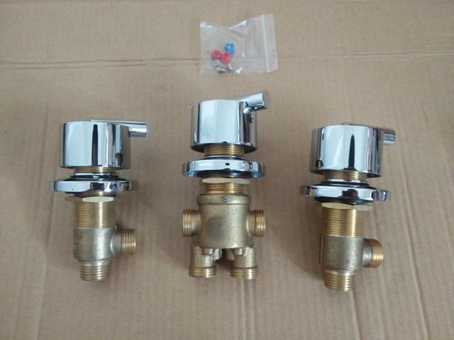 Rubinetto Vasca Da Bagno : 3 pz = 1 set bagno doccia rubinetto valvola miscelatrice vasca da