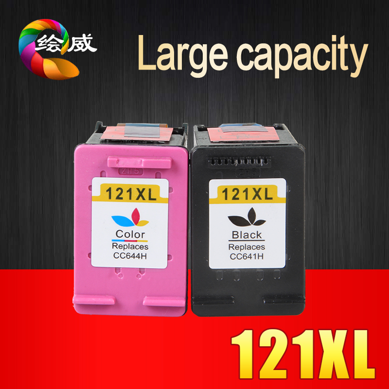 2pk 121XL Remanufactured for HP 121 XL Ink Cartridge for HP Deskjet D2563 F4283 F2483 F2493