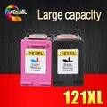 2pk 121xl cartucho de tinta remanufaturados para hp 121 xl para hp deskjet d2563 f4283 f2483 f2493 f4213 f4275 f4283 f4583 impressora