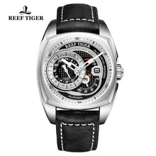 Reef Tiger/RT Top Brand Mens Sport Watch Genuine Leather Str