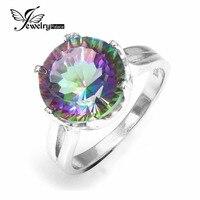 JewelryPalace 5.6ct Mysticไฟสายรุ้งTopazsหมั้นแหวนแต่งงานที่ไม่ซ้ำกันรอบ925