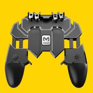 Image 4 - Ak66 seis dedo tudo em um pubg controlador móvel gamepad pubg gatilho móvel l1r1 shooter joystick almofada de jogo para ios android