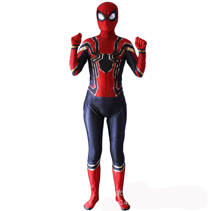 Halloween Adult Homecoming Spiderman Cosplay Zentai Iron Spider Man Costume Superhero Bodysuit Suit Jumpsuit Boy
