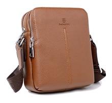 цена на Hot sale New fashion genuine leather men bags small shoulder bag men messenger bag crossbody leisure bag free shipping