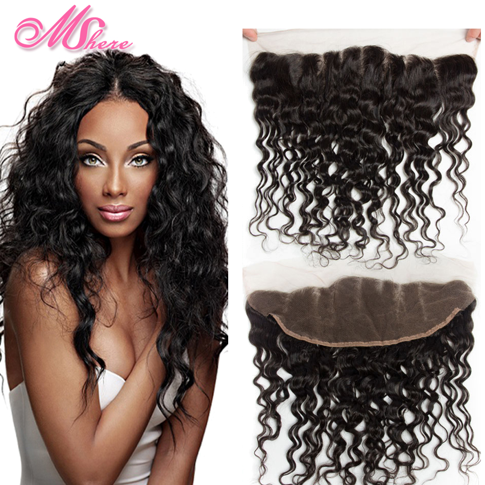 Wet And Wavy Human Hair Closures Remy Indian Hair