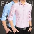Formal Business Men Long Sleeve Dress Shirt Brand Male Fashion Solid Casual Shirt Slim Fit Plus Size M-6XL Turndown Collar MQ521
