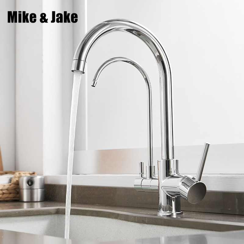 Filter Kitchen Faucets Deck Mounted Mixer Tap 360 Rotation With Water Purification Features Mixer Tap Crane For Kitchen