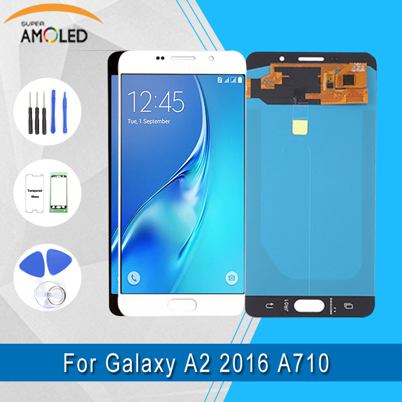 Amoled For Samsung Galaxy A7 2016 A710 A710F A710M AMOLED Phone LCD Display Touch Screen Digitizer Assembly 100% TestedAmoled For Samsung Galaxy A7 2016 A710 A710F A710M AMOLED Phone LCD Display Touch Screen Digitizer Assembly 100% Tested